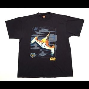 Vtg Star Wars Episode I Shirt XL 90s Double Sided